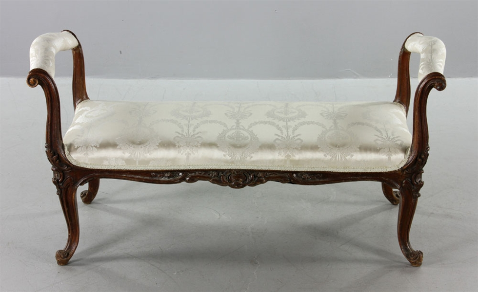Late 18th C. Italian Walnut Bench
