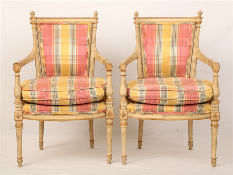Pr. Italian Neoclassical Style Armchairs
