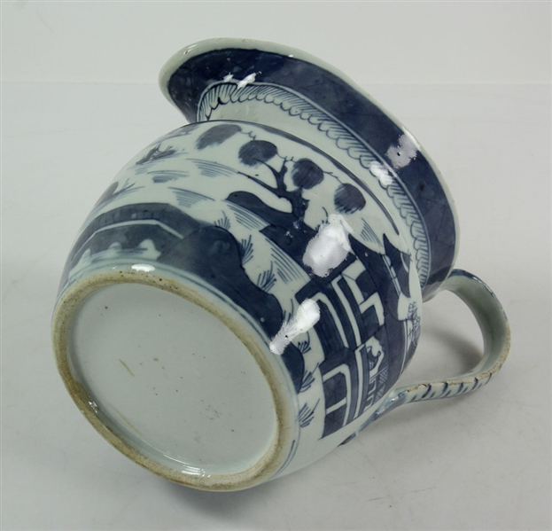 Four Chinese Canton Blue and White Milk Jars