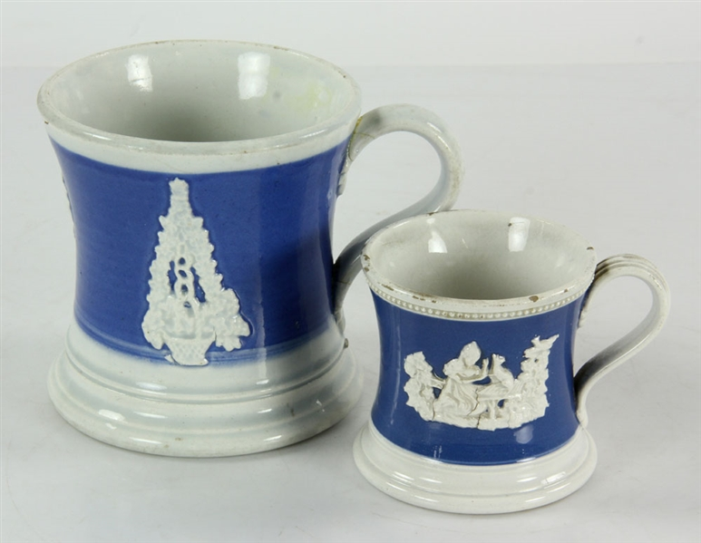 18th/19th C. Staffordshire Mugs and Pitchers