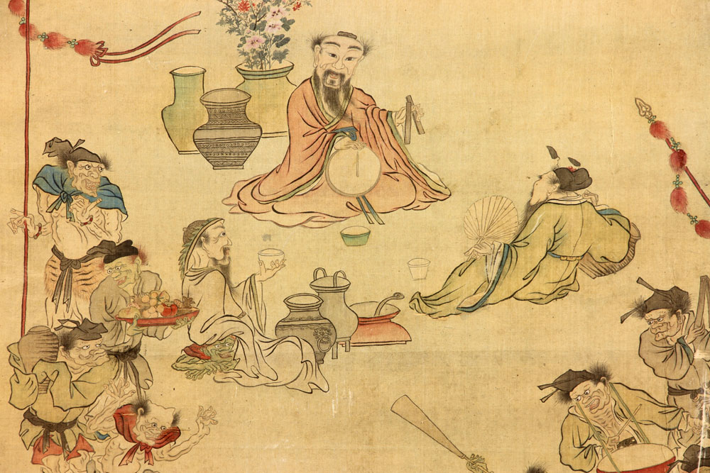 Antique asian paintings
