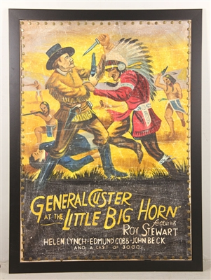 """General Custer at Little Bighorn,"" Vintage Movie Poster"