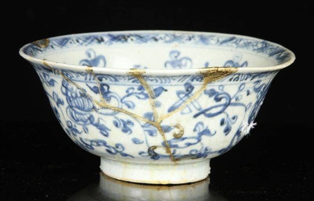 Chinese Ming Style Blue and White Bowl