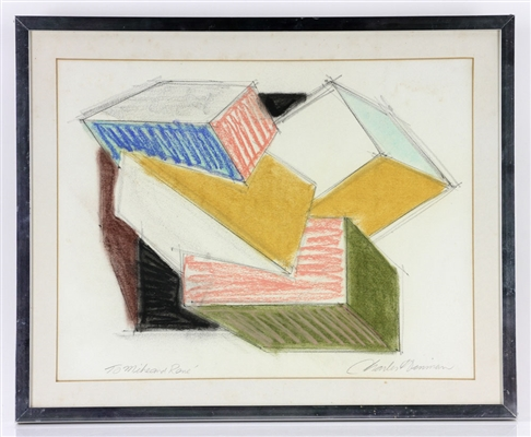Hinman, Cubist Drawing, Pastel