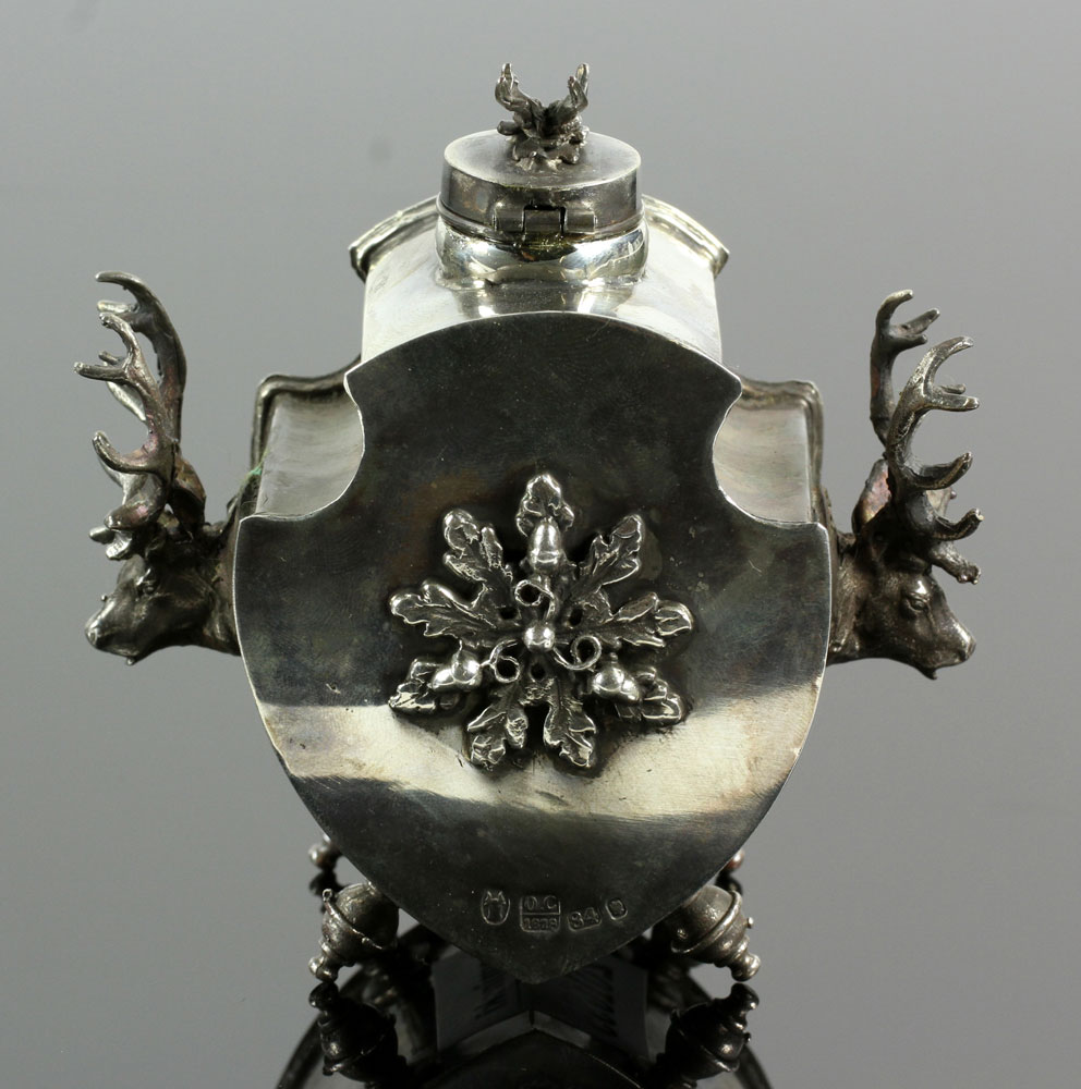 Lot Detail Russian Silver Inkwell