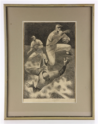 "Martin, ""Double Play,"" Lithograph"