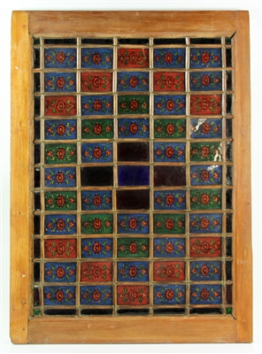 Persian Reverse Painted Window