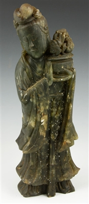 Chinese Hardstone Guanyin Figure