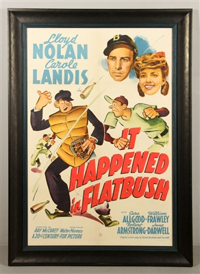 "Vintage ""It Happened in Flatbush"" Movie Poster"