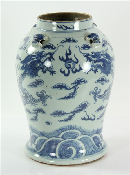 18th C. Chinese Blue and White Vase