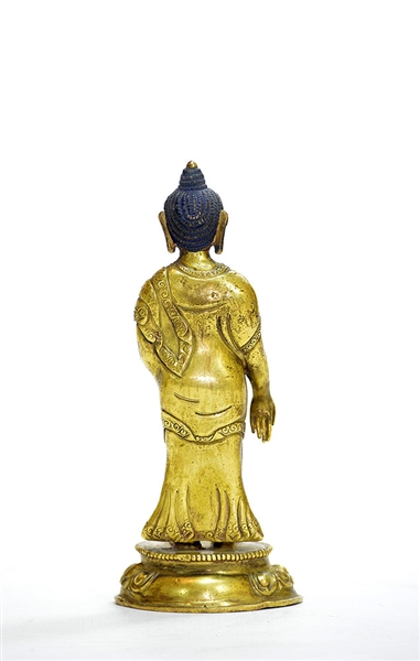 2 Gilt Bronze Figures of Buddha