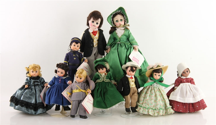"10 Mme. Alexander ""Gone With the Wind"" Dolls"