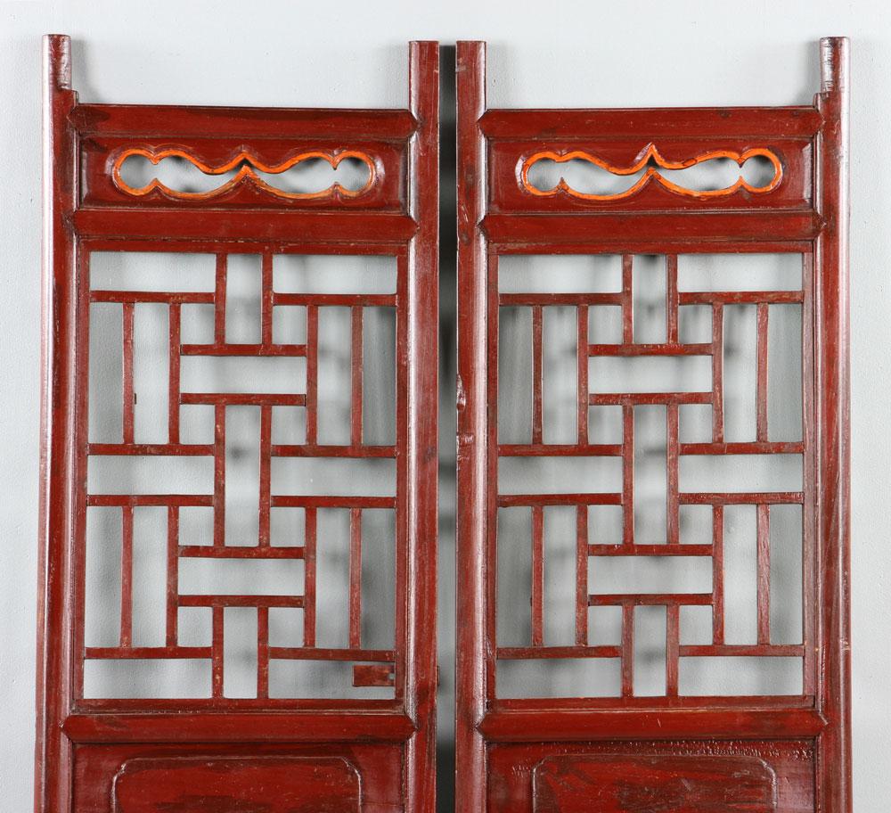 Lot detail chinese elm screen doors for Door to gate kontakt