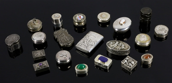 19th/20th C. Assorted Silver Pill Boxes