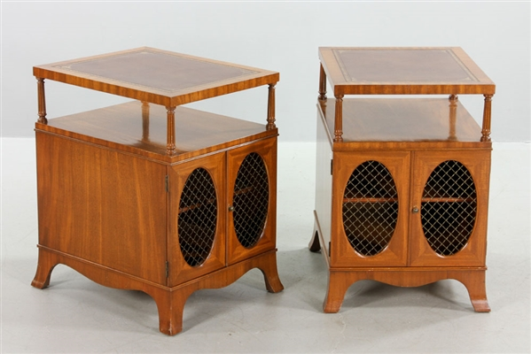 Pair of Mahogany Stands