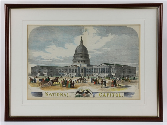 19th C. US Capitol Block Print