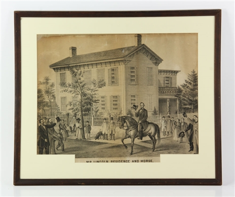 """Lincoln Residence,"" Etching"