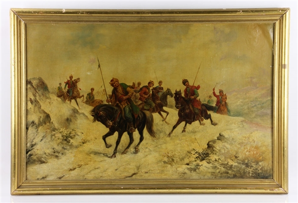 Russian Cossack Painting, Oil on Canvas