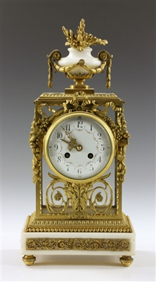 Bronze Dore and Marble Clock