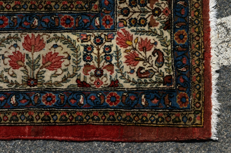 Antique Persian Kashan Carpet