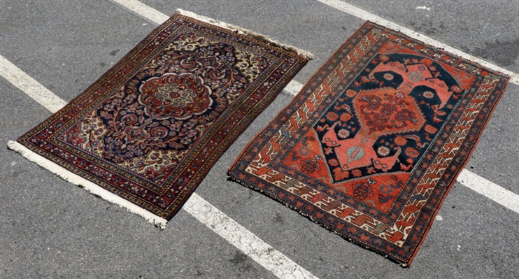 Two Persian Carpets, Hamadan and Bidjar