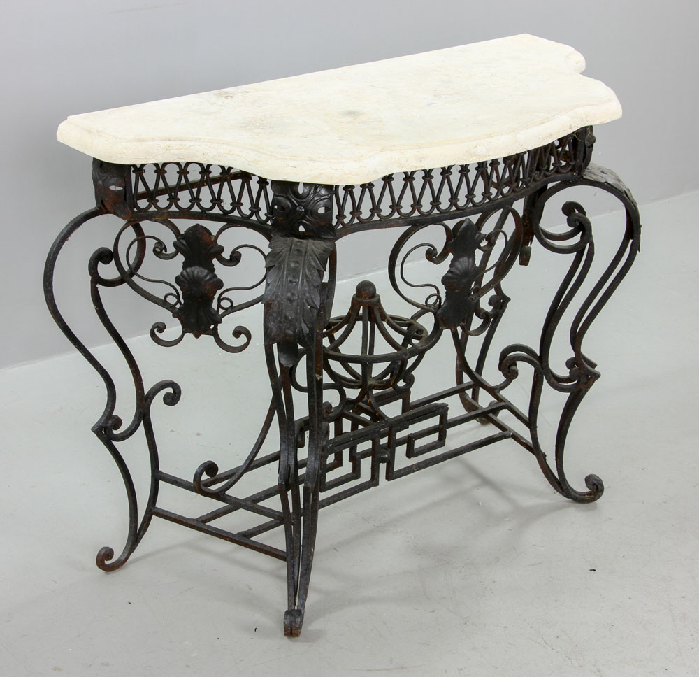Lot Detail Cast Iron Outdoor Side Table