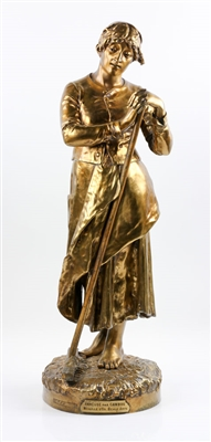 Cambos, 19th C. Statuette, Gilt Bronze