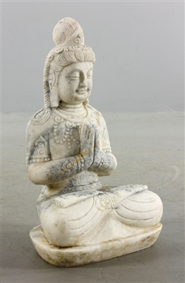 Chinese Carved Marble Buddha
