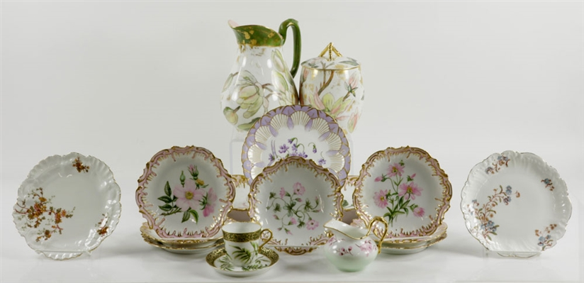 Lot of Hand Painted French Limoges Porcelain
