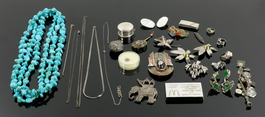 Assorted Lot of Sterling Silver Jewelry