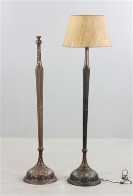 Pair of Chinese Cloisonne Floor Lamps