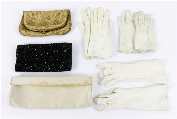Collection of Evening Bags and Gloves