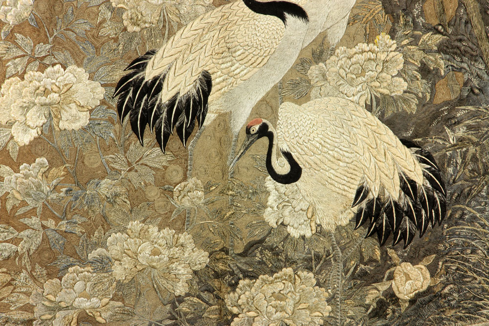Lot Detail Japanese Silk Embroidery