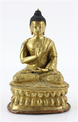 Chinese Gilt and Bronze Buddha Figure