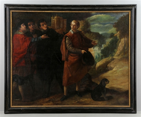 Manner of Titian, Four Figures, Oil on Canvas