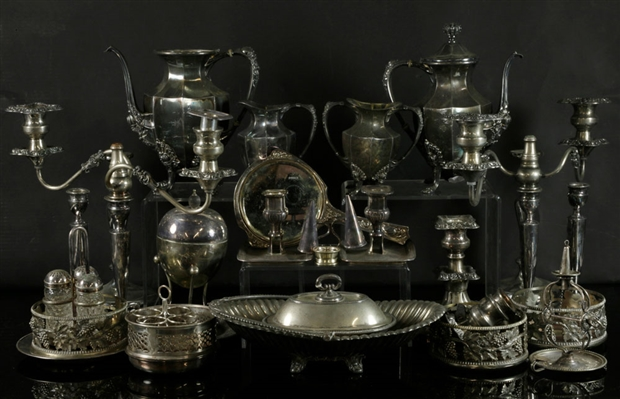 Lot of Assorted Silverplate