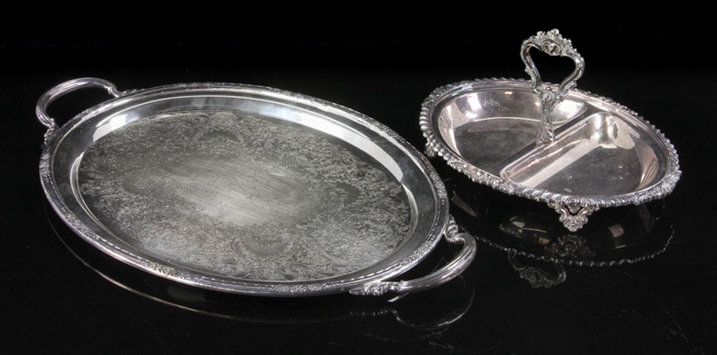 Two Silver Plate Trays