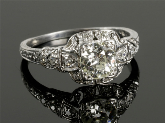 Art Deco Platinum and Diamond Ring