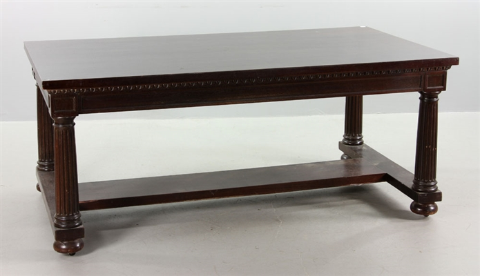 20th C. Mahogany Library Table