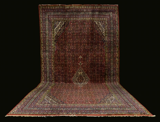 Antique Persian Seraband Hamadan Carpet
