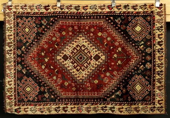 Semi-Antique Persian Sheriz Carpet