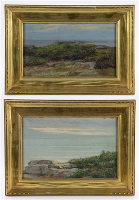 Munsell, Two Seascapes, Oil on Canvas