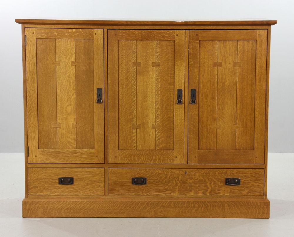 Stickley Quarter Sawn Oak Cabinet