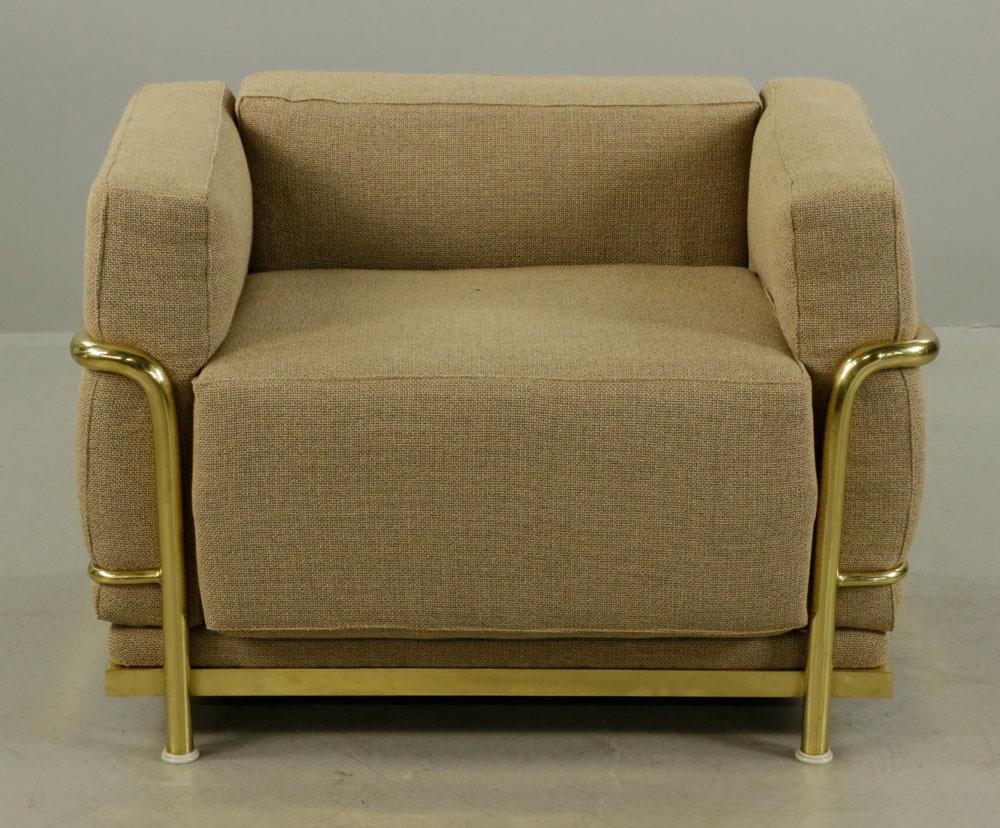 lot detail le corbusier style designer armchair. Black Bedroom Furniture Sets. Home Design Ideas