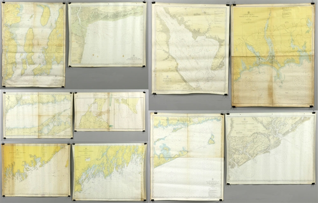 Collection of 10 Nautical Charts