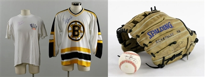 Hall of Fame Lot, Signed Esposito, Chamberlain, Eckersley Items