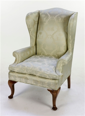 English Queen Anne Style Wingback Chair