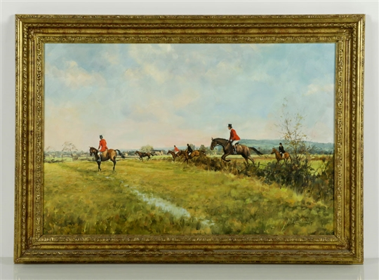 "Donnithorne, ""Loose Horse Near Ham Green,"" Oil on Canvas"