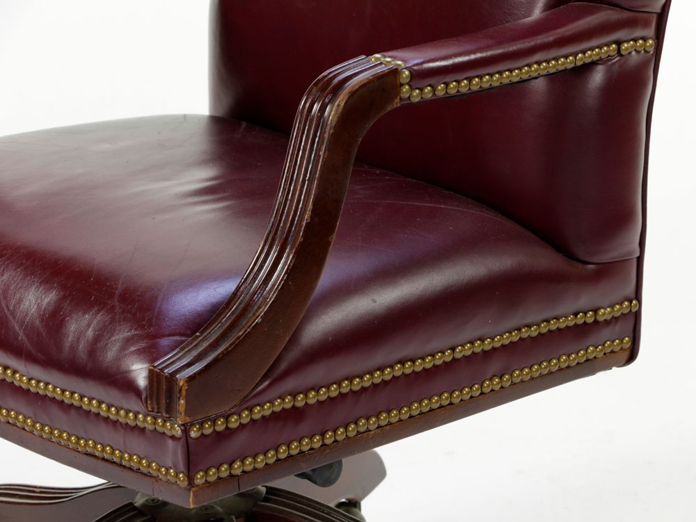 Lot Detail - Leather Office Armchair