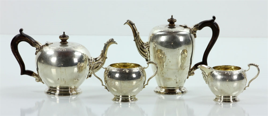 English Sterling Silver Tea Set